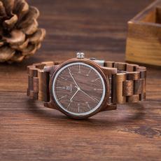 Wood, woodstrapwatch, quartz, walnutwood