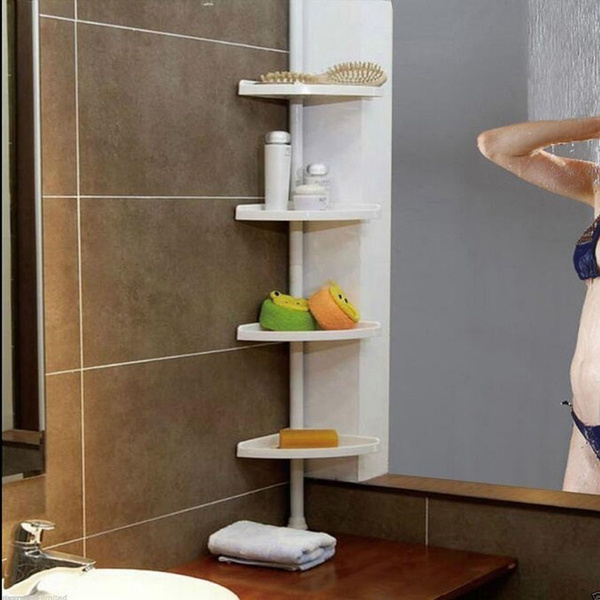 Wish | 4 Shelves Bathtub Shower Caddy Holder Corner Rack Shelf for ...