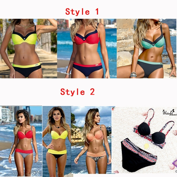 Hot Latest Sexy Bikini Women Fashion Swimming Suit Beach Bikini with Bracket Gather SEA