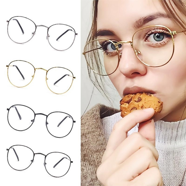 Picture of Brand Classic Gold Frame Clear Glasses Myopia Clear Frame Glasses New Women Men Spectacle Frame Clear Lens Optical Aviation Glass