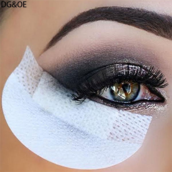 Picture of 30 Pieces Eye Shadow Shield For Eyeshadow Shields Protector Pads Eyes Lips Makeup Application Tool Color White Color White