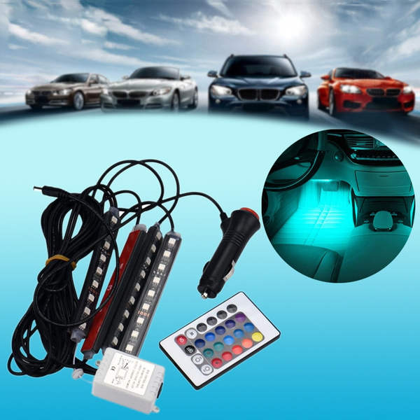Led Per Auto Interni.2017 Nuovo Led Per Carica Dell Automobile Interni Rgb Accessori Piede Leggero Auto Decorative High Quality