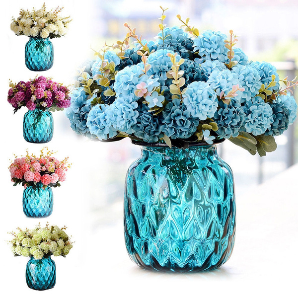 Picture of 31cm Artificial Chrysanthemum Silk Flowers Flower Floral Fake Wedding Home Decor10 Heads