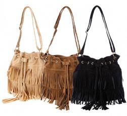 women bags, Shoulder Bags, Tassels, fauxbag