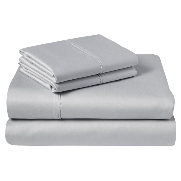 Wish 24 Inches Deep Pocket Ed Sheet King Size 1000 Thread Count Solid Silver Egyptian Cotton