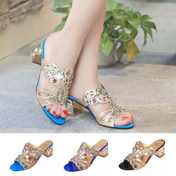 Picture of The New Summer Rhinestone Sandals Fish Mouth Sandals Slippers Fashion Shoes