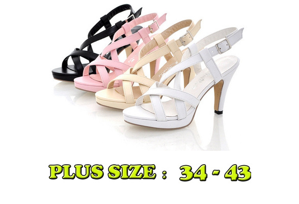 High Heels Bandage Rome Sandals Famle Casual Sexy Party Summer Heel Shoes High : 7CM