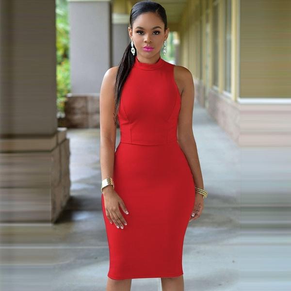 Wish 2017 Women Summer Fashion Sexy Dress Sleeveless Slim Backless