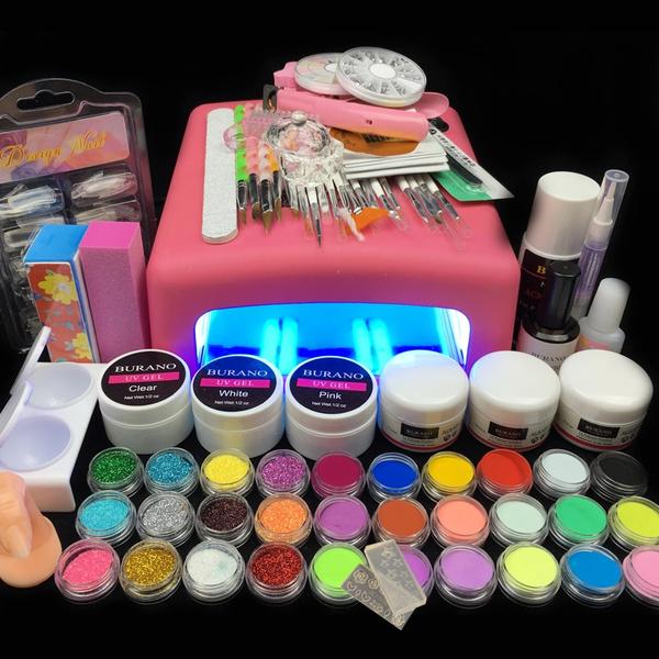 Wish   36 W UV Acrylic Nail Art Dryer, Acrylic Nail Kit, Nail Gel ...