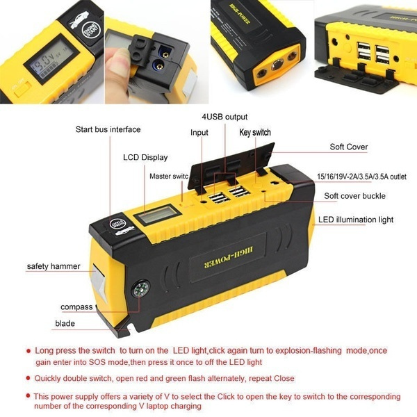 Picture of Boys Minimax Lithium Car Jump Starter Power Bank Baterry Charger Backup
