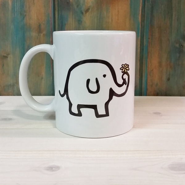 MugUnique CupAdorable Dishwasher Mug Safe Elephant Cute Coffee 3FK1uTclJ