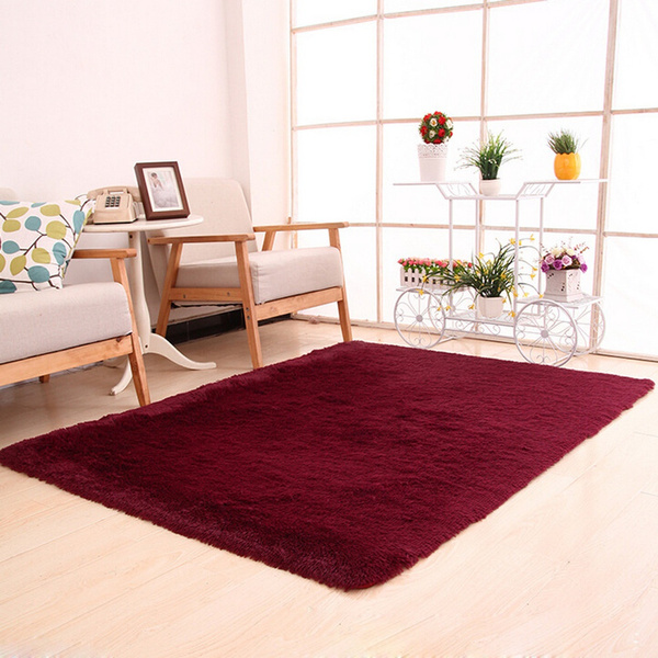 Wish | Fluffy Teppiche Anti Skid Shag Bereich Teppich Esszimmer Schlafzimmer  Teppichboden  Matten Home Carpet Floor Mat 50 X 80cm (Color:Red)