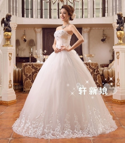 Wish   Cheap Wedding Dress Ball Gown Bridal Gown Sleeveless ...