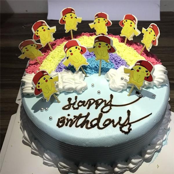 Wish 24pcset Cupcake Topper Picks Cute Pikachu Pokemon Theme