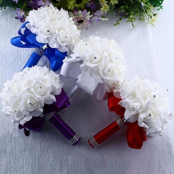 Wish Le Bouquet De Roses Pearl Cristal Mariage Fleurs En Soie