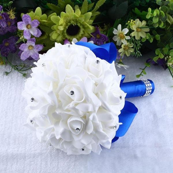 Picture of Rosen Pearl Crystal Brautjungfer Hochzeitsstrau Braut - Knstliche Seide Blumen
