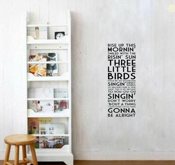 Wall Vinyl decalThree Little Birds by Bob Marley