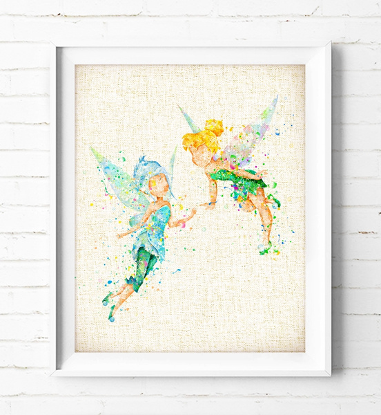 Wish | Tinkerbell and Periwinkle - Watercolor Painting, Peter Pan ...
