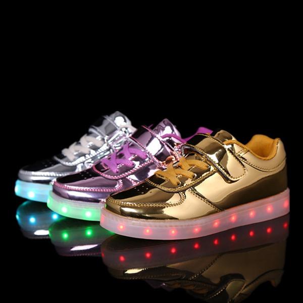 Sportschuhe Schuhe Led Leuchtende Leuchtstoff Kinder Wiederaufladbare Leichte Usb EHW9DI2