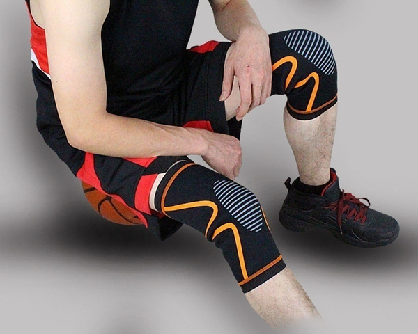 NEW 1 Piece Breathable Elastic Basketball Knee Pad Badminton Running Hiking Outdoors Sports Knee Support