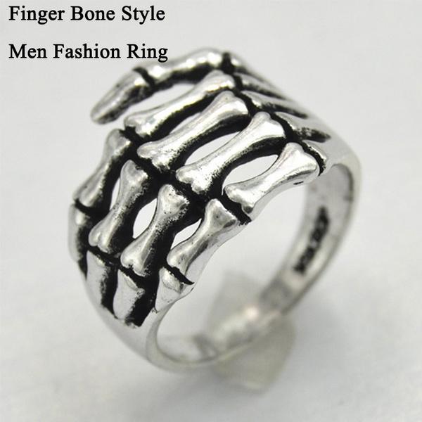 Ring Finger Hand Bone Stylish Punk