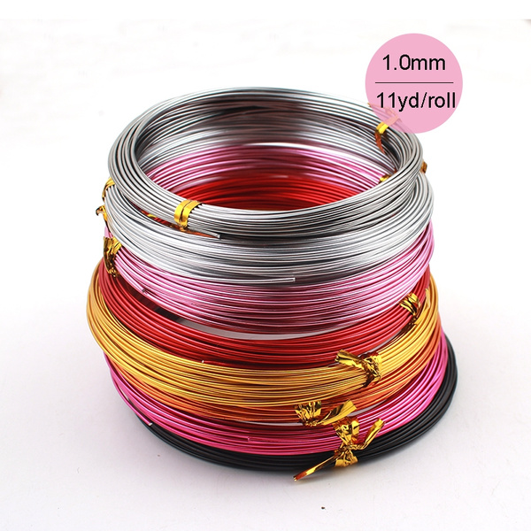 10M  Aluminium Jewelry Craft Wire 1mm COLOURS