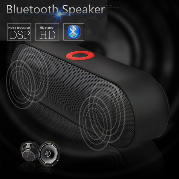 Picture of Wireless Subwoofer Portable Bluetooth Speaker Music Audio Receiver Phone Blutooth Fm Radio Bleutooth Usb Blutooth Color Black