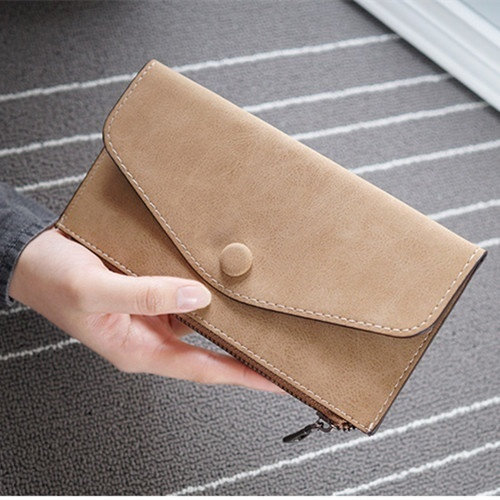 Picture of Fashion Women Clutch Bag Multi-card Zippered Wallet Soft Pu Card Case Purse For Smartphone
