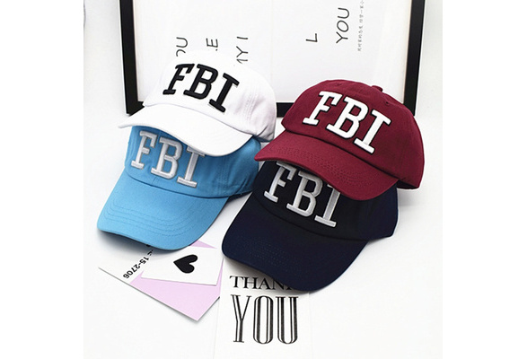 42cdb47ee 2017 New Spring Letter FBI Baseball Cap Fashion Cotton Hats For Man and  Women