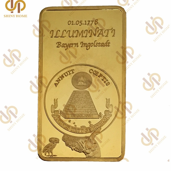 Wish 1776 Masonic Freemasonry Illuminati Symbol Rare 24kt 999