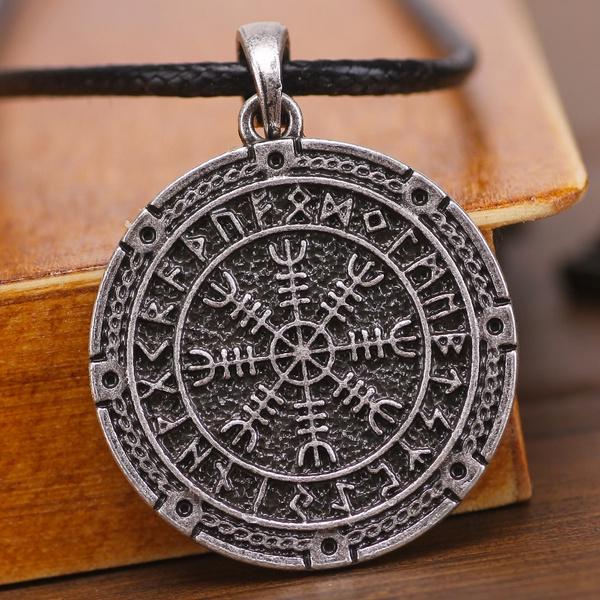 talismansnecklace, aegishjalmur, Jewelry, vikingoldnorse