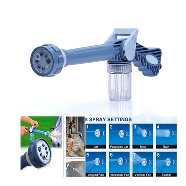 Washing Tool 8 In 1 Jet Spray Gun Soap Dispenser Nozzle Car Washing