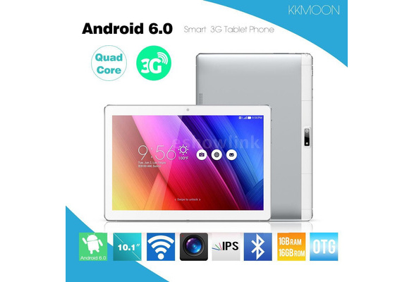 Android 6 0 10 1 Inches KKmoon QT-10 Smart Tablet Phone 3G WCDMA 2G GSM  MTK6580 Quad Core Max 1 5GHz IPS 1280 * 800 Pixels Touch Screen 1GB  RAM+16GB