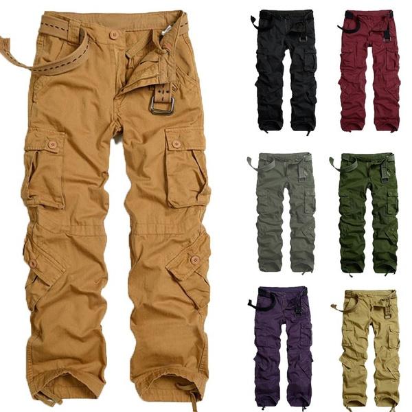 Qualität und Quantität zugesichert größter Rabatt Rabatt-Sammlung 100% Cotton Size 32-40 Herren Pure Vintage Men Cargo Hose Army Style  Cargohose lang NEU