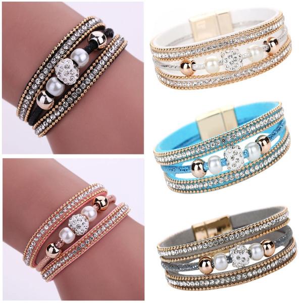 Fashion, Wristbands, Beaded, leather