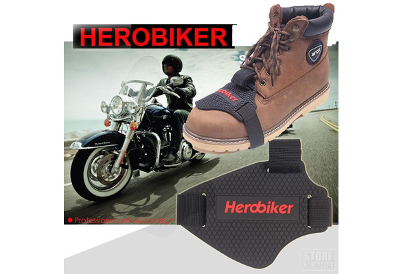 Motorcycle Protective Gear Shift Pad Shoes Boots Scuff Protector Shifter Guards