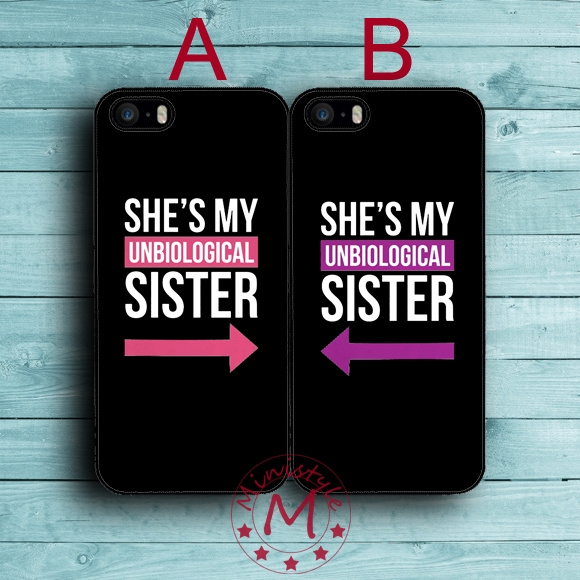 info for 92918 d7418 Fundas Sister BFF Best Friends Case for iPhone 7/6S/6/SE/5S/5/5C/4S/4 Plus  Case for iPod Touch 5/6 Case for Samsung Galaxy S7/S7 Edge/S6/S6 Edge/S6 ...