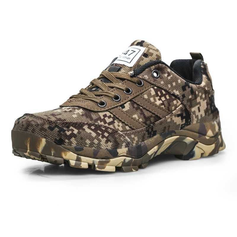 army camouflage canvas shoes field combat