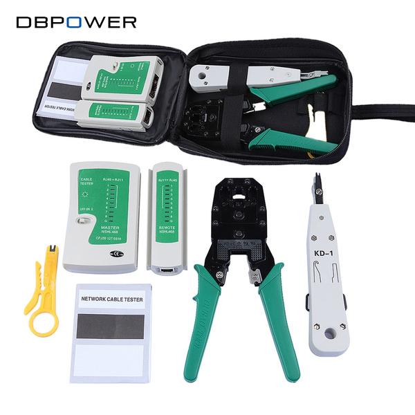 RJ45 Rj11 Ethernet Network Cable Tester Crimping Crimper Stripper Cutter Tools
