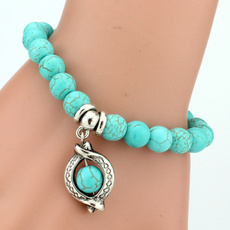 Charm Bracelet, Turquoise, Fashion, Love