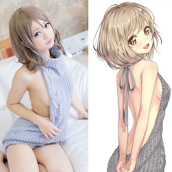 HOT Moe Girls Virginity Killer (Virgin-Killing) Backless Sweater Cosplay  Costume