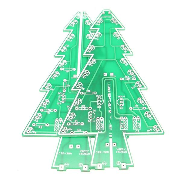 Diy Christmas Tree Led Flashing Light Flash Kit Circuit Board Xmas Gift Home Decor