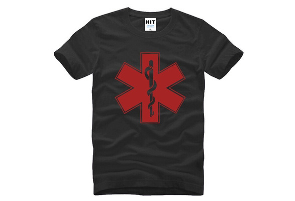 Man Cotton Short Sleeve EMT Urgent Rescue Member Man Cotton