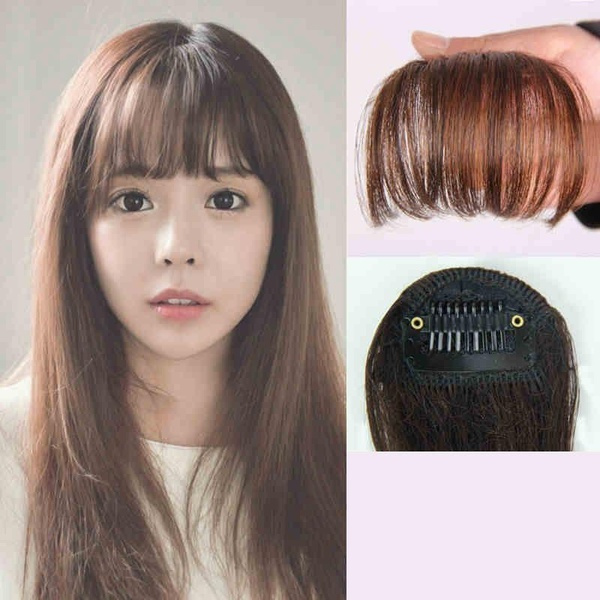 Wish Fashion Hair Clip In Bangs Fake Hair Extension False Hair