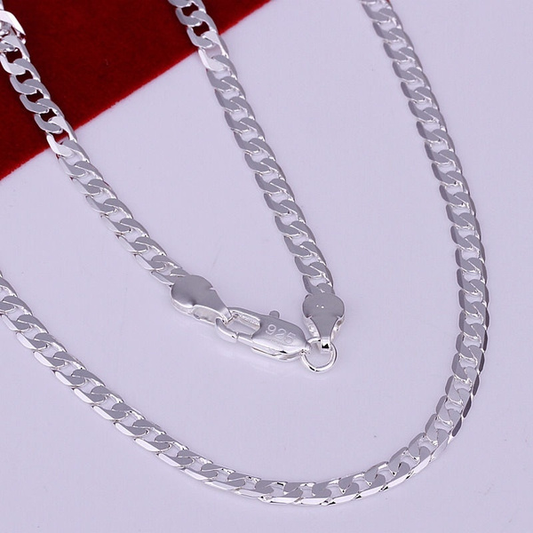 925 sterling silver necklace, 925sterlingsilverjewelry, Chain Necklace, necklaces for men