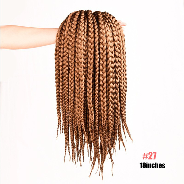 Wish Box Braids Hair Crochet 18 Wig Hair Extensions Synthetic