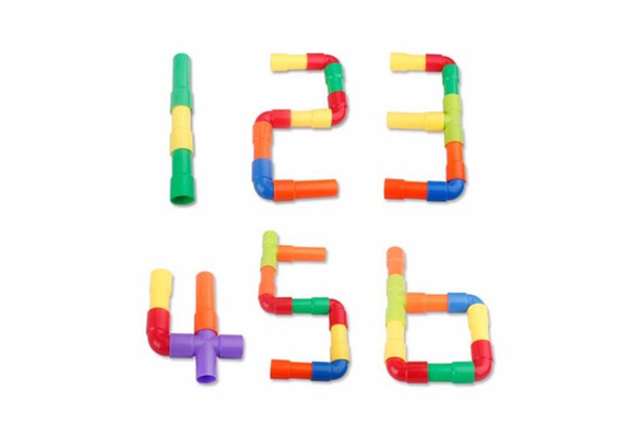 Colorful  Pipe Building Blocks Children Kids DIY Assembling Tunnel Model Toys