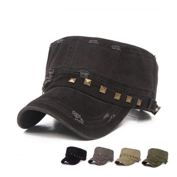 Fashion Men Women Baseball Cap Military Style Caps Army Flat Cap Sport Sun  Hats