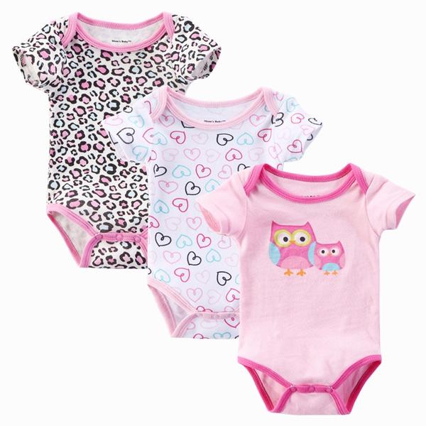 Wish 3pcs Lot Baby Girl Bodysuits Body Bebes Newborn Baby Boy