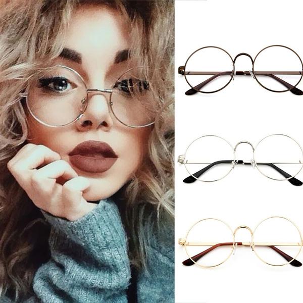 New Korean Style Fashion Designer Metal Frame Girls Round Glasses